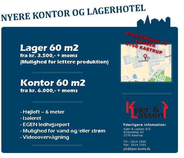 AmagerLagerHotel - kontor og lager til dig!